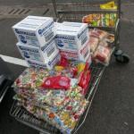 La compra de golosinas y panchos