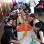 El almuerzo de los voluntarios